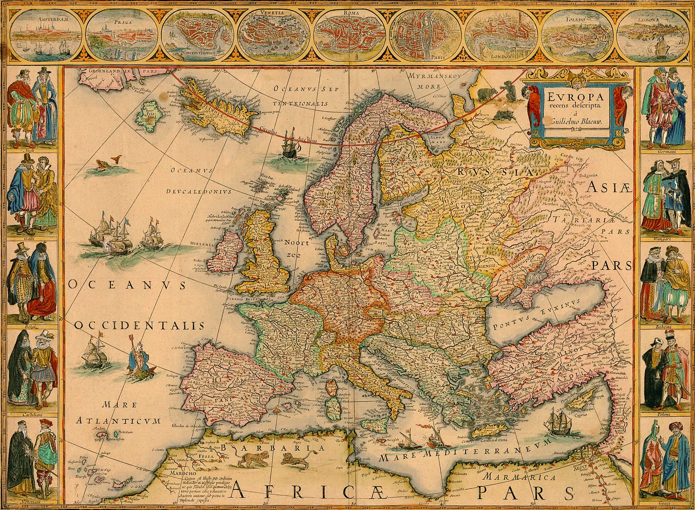 Ancient Map Of Europe