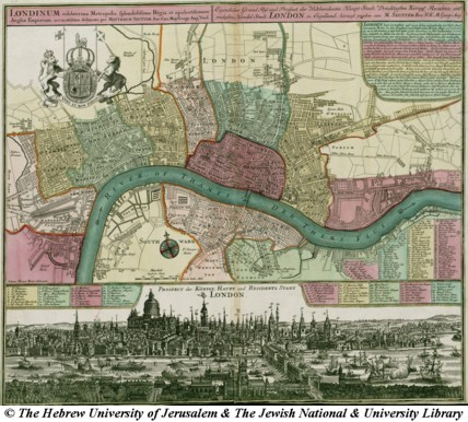 Map Of London 1750