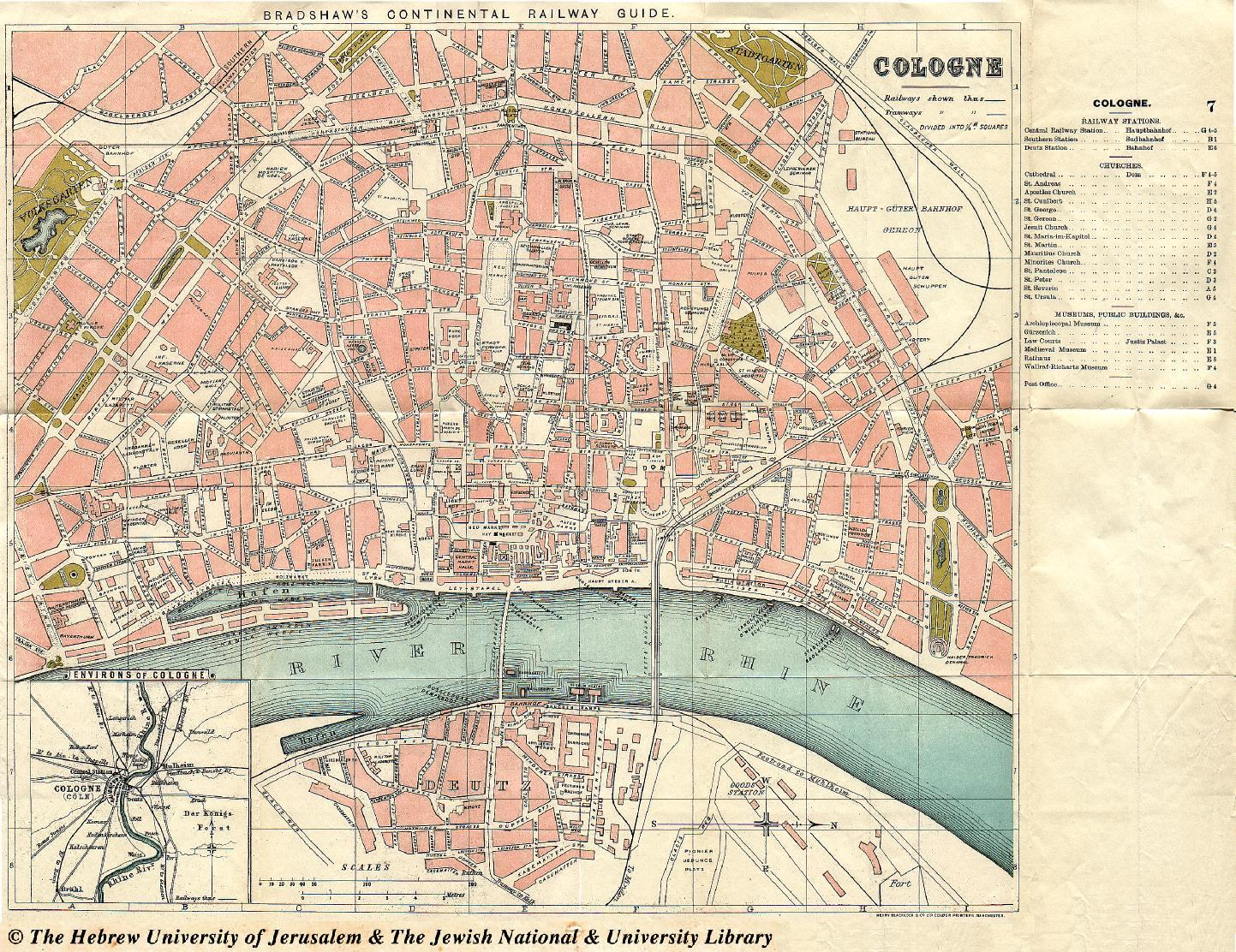Map of cologne 1912 george bradshaw low resolution high resolution gumiabroncs Choice Image