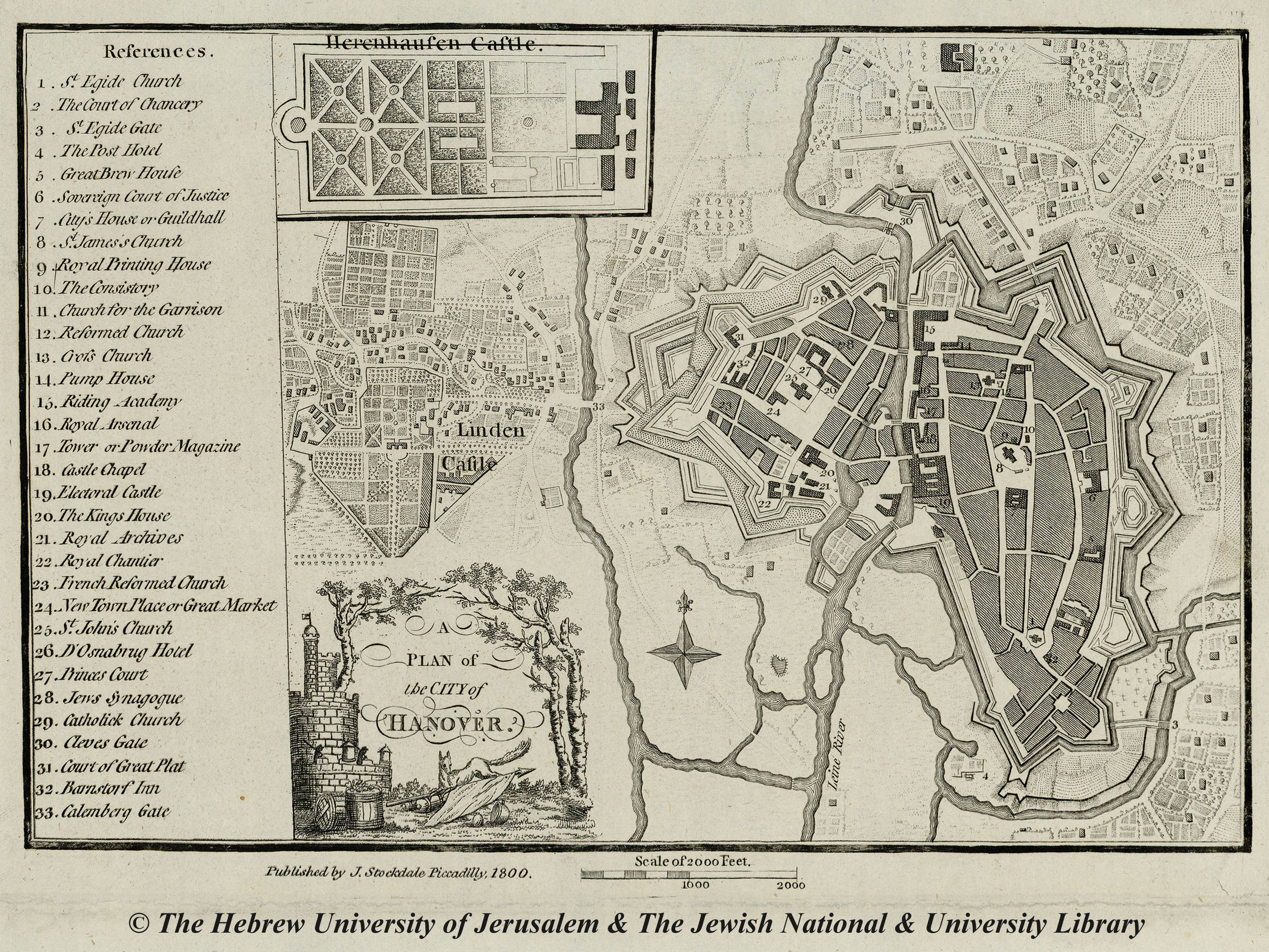 Map of Hannover 1800 J Stockdale