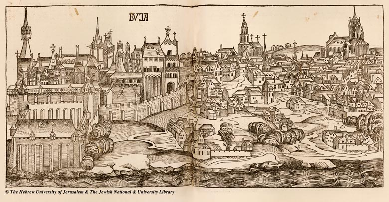 Map Of Budapest 1493 Hartmann Schedel