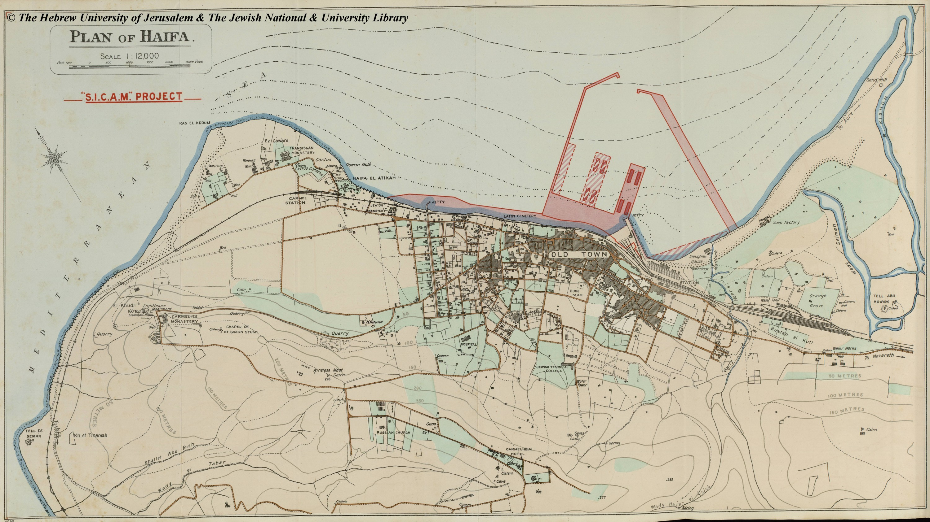 Map of Haifa F Palmer 1923