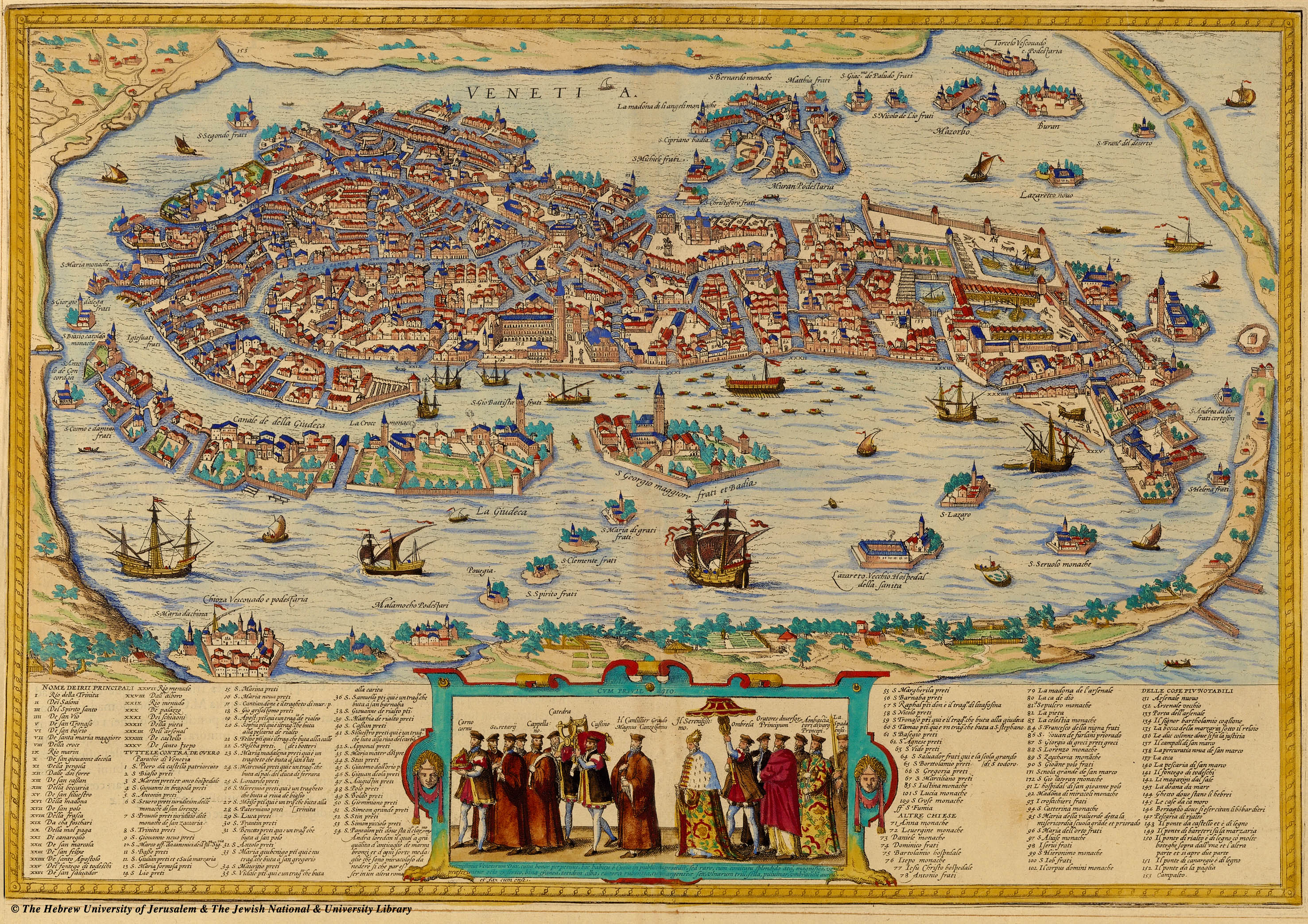 specifically their 1572 map of venice