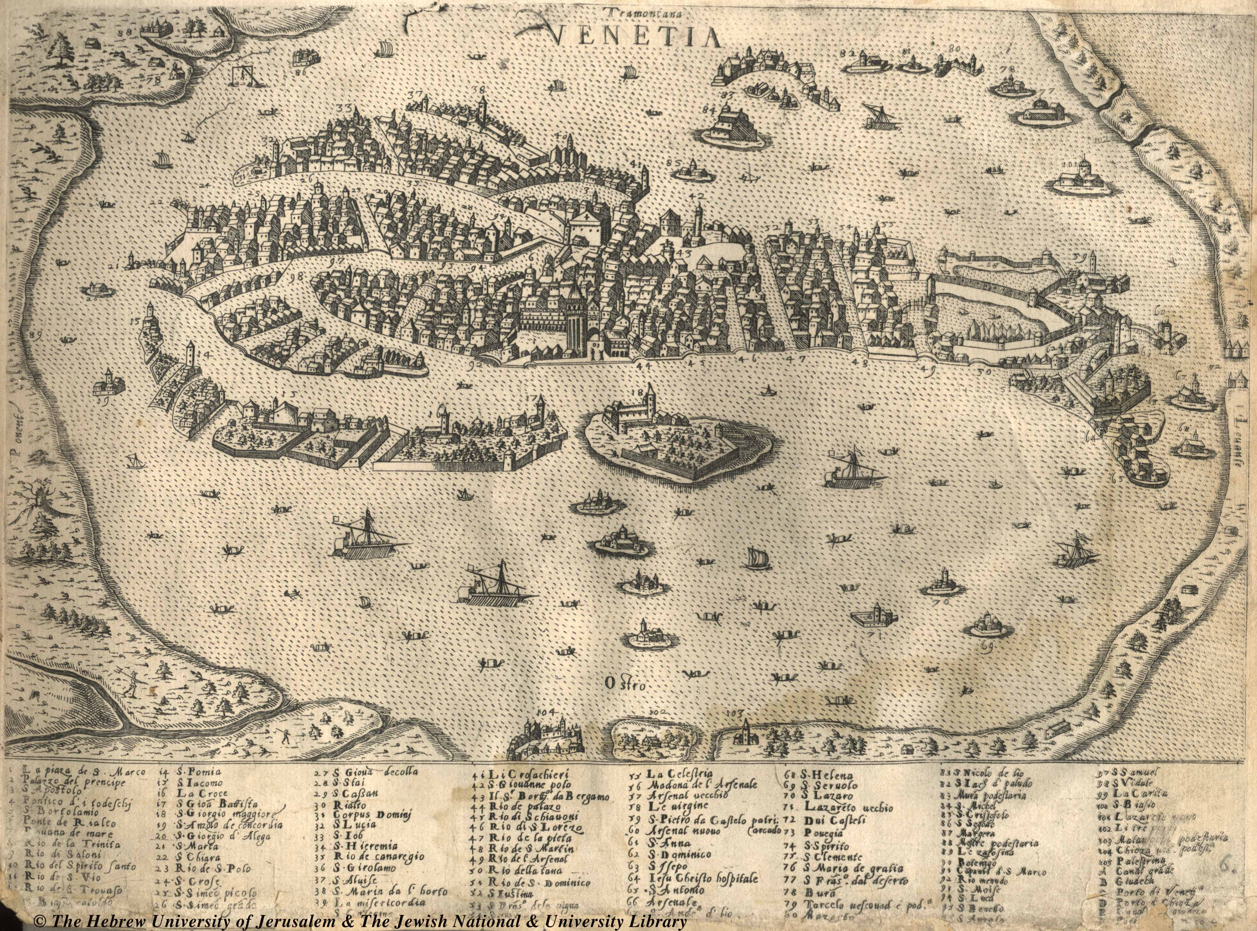Historical Map of Venice Italy