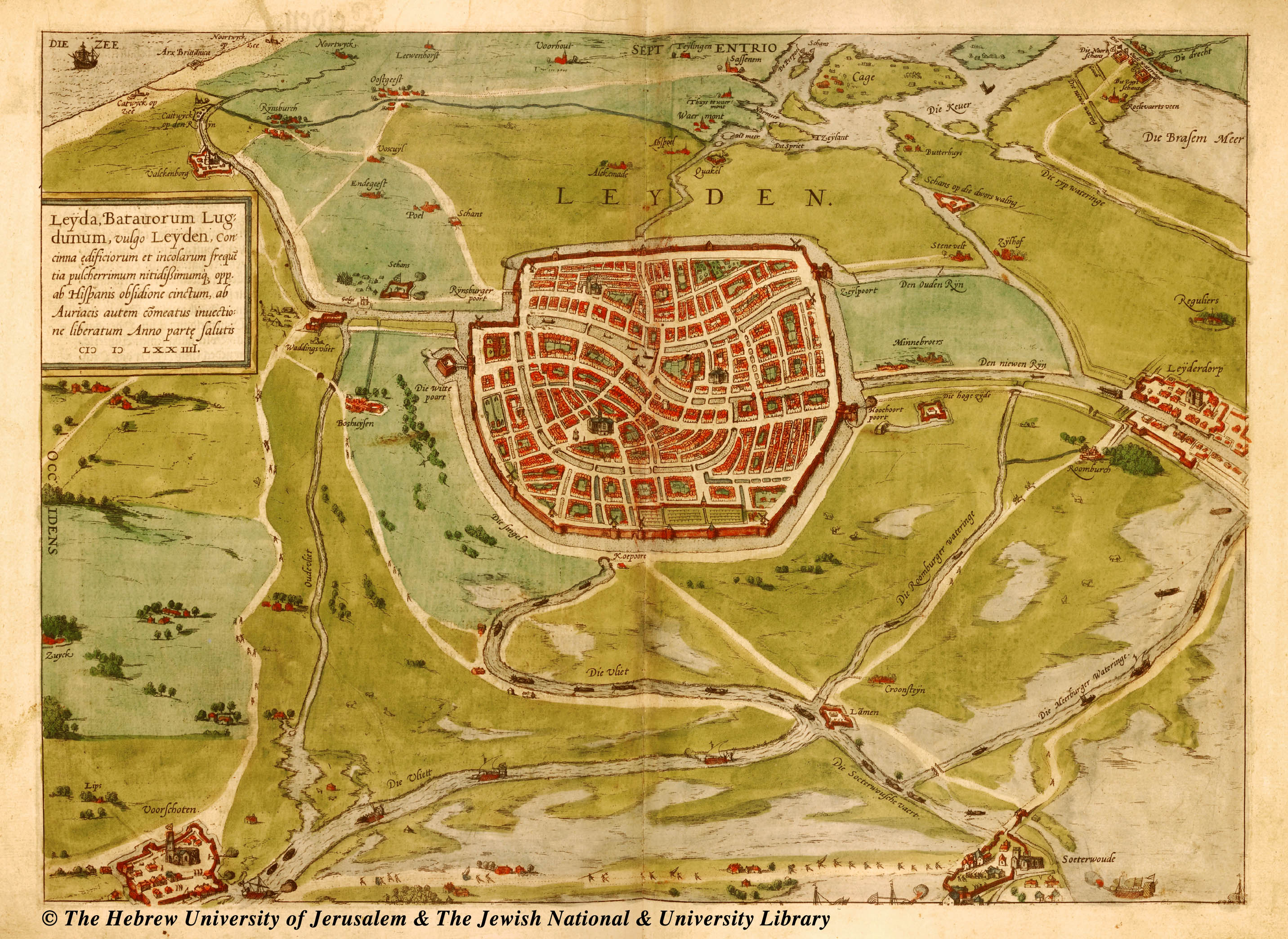The PROMOTION OF CIVIC IDENTITY THROUGH MAPS OF LEIDEN 15741700