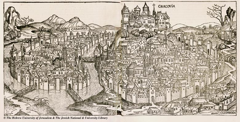 Map of Krakow 1493 Hartmann Schedel